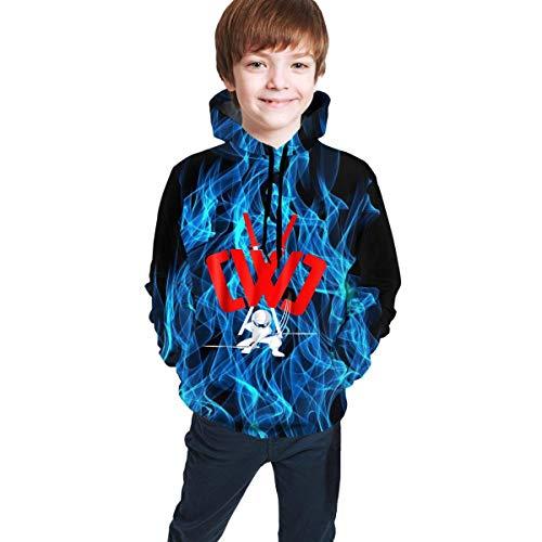maichengxuan Kids Chad Wild Clay CWC Gamer Flame 3D Print Hoodie Sweatshirts Videospiel Jungen und Mädchen Gr. 14-16 Jahre, Black5