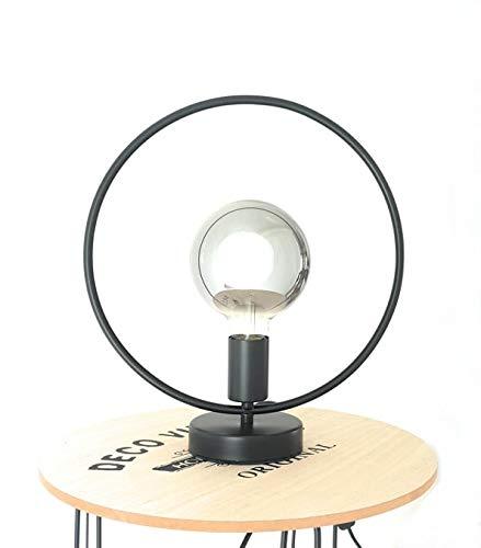 Lampe de table industrielle Design métal noir