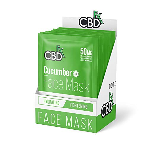 CBDfx Gurke CBD Gesichtsmaske – 50 mg CBD (10 Masken)