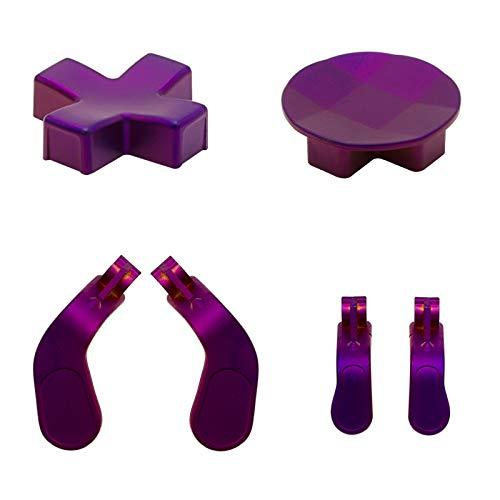 D-Pads aus Metall und Edelstahl, Paddel (2 Mini & 2 Medium), Haar-Trigger-Knöpfe, Ersatz für Elite Series 2, Xbox One Elite Controller, Violett