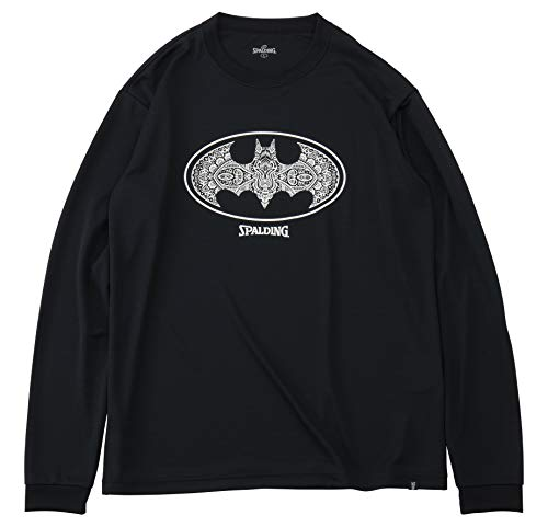 SPALDING(スポルディング) バスケットボール ウェア ロングスリーブTシャツ バットマン ダマスクロゴ SMT191360 XSサイズ バスケ バスケット SMT191360 XS