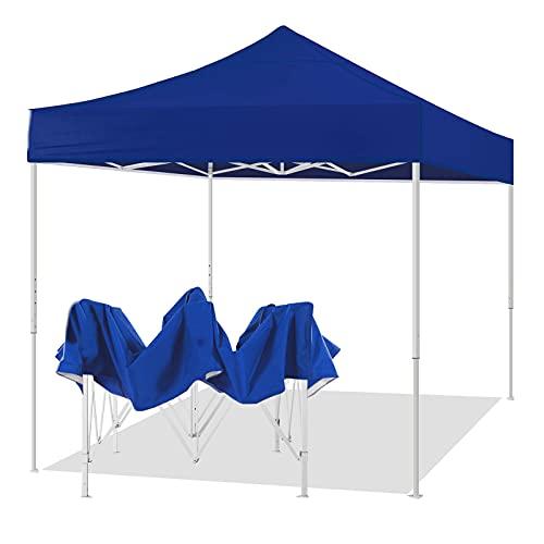 Gmjay Pop Up Canopy Wedding Camping Party Carpa Sombra Refugio Toldo al Aire Libre Refugio Plegable,Blue,10x10ft
