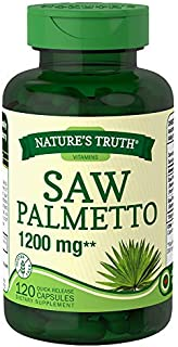 Nature's Truth Saw Palmetto 1200 mg Quick Release Capsules - 120 Capsules, Pack of 2