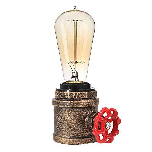 CARYS Lampara escritorio vintage Lampara de mesa E27 industrial lampara mesilla de...