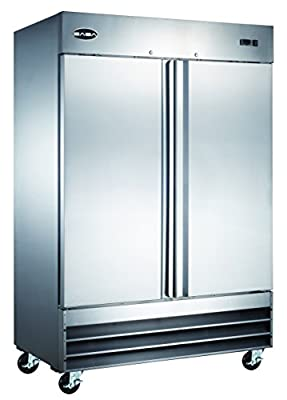 "Heavy Duty Commercial Stainless Steel Reach-In Freezer (54"" Two Solid Door)"