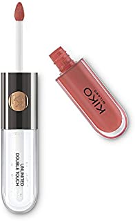 KIKO MILANO - UNLIMITED DOUBLE TOUCH Liquid Lipstick with Matte or Lip Gloss Finish   Natural Rose   Long Lasting Lipstick   9 Colors   Professional Makeup   Made in Italy