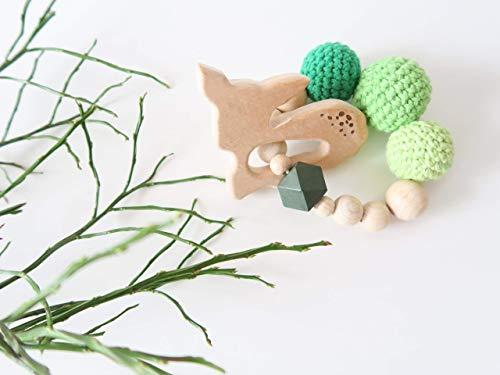 Beißring - Reh (grün)