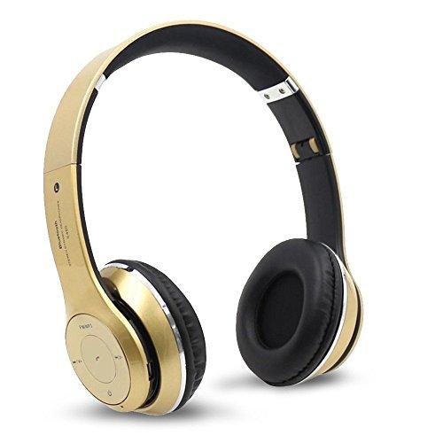 Karl Aiken S460inalámbrica Bluetooth 3.0estéreo de auriculares in-ear con micrófono para teléfono móvil (oro)