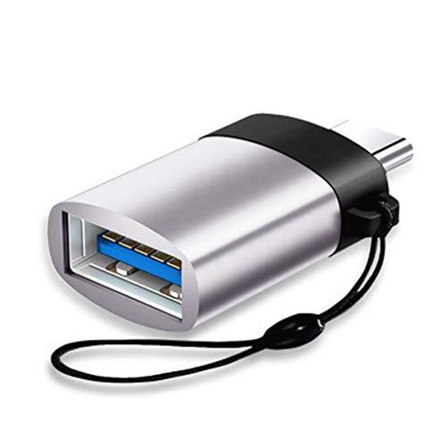 Typ C zu Micro USB3.0 Data Mini tragbarer Ladeadapter Konverteradapter (M,Silber)