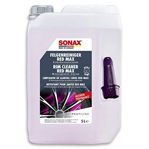 SONAX PROFILINE FelgenReiniger Red Max (5 Liter) entfernt stärksten Bremsstaub mit Farbumschlag | Art-Nr. 02315050