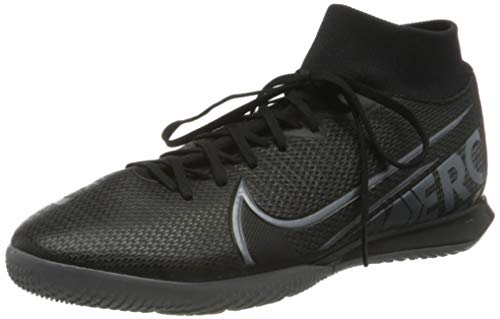 Nike Unisex-Erwachsene Superfly 7 Academy Ic Futsalschuhe, Mehrfarbig (Black/MTLC Cool Grey-cool Grey 001), 39 EU