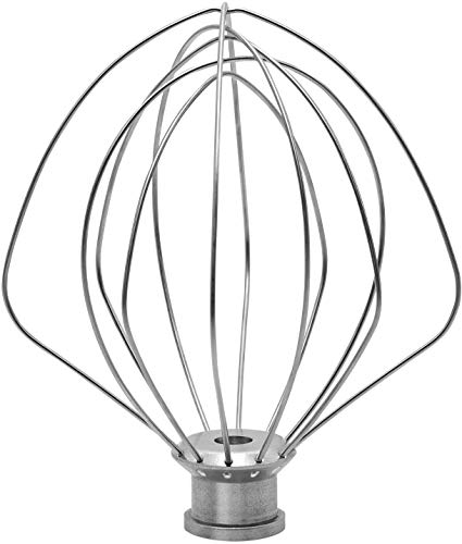 KN256WW 6-Wire Whip Attachment for KitchenAid 6 Quart Bowl-Lift Stand Mixer Accessory Replacement, Egg Cream Stirrer, Cakes Mayonnaise Stainless Steel Whisk