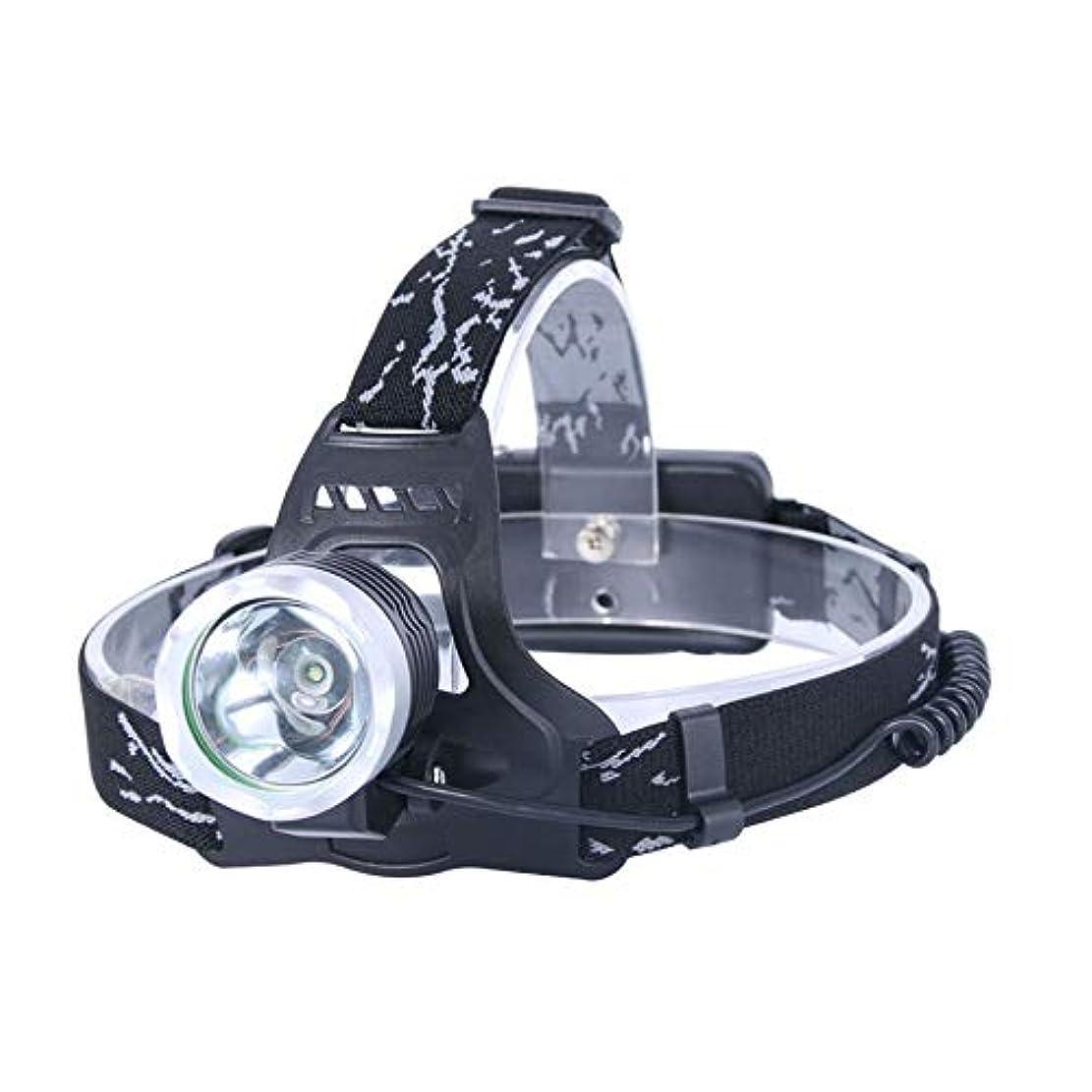 家族粒毎年アウトドア登山キャンプ用ライディングヘッドライト3モードLEDヘッドライト(ブラック)