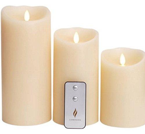 Luminara 3 x Flicker Candle Set - 5', 7' & 9' Remote Control. Battery operated.
