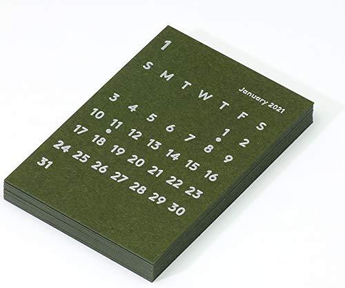 JACKAL クララ デスクカレンダー リフィル 2021 オリーブ 卓上カレンダー