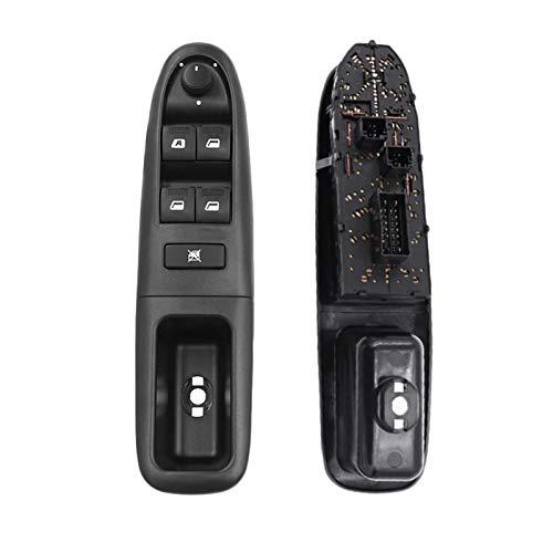 Mrfmh Interruptor de Control de la Ventana Principal del Lado del Conductor del Frente Izquierdo del automóvil 6554 CF/Ajuste for Peugeot 406 8B / Ajuste for LA Tag HEUER 1995-2004 6554CF 6554.CF