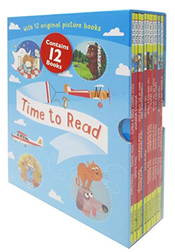 Time To Read Collection 12 Books Set (What The Ladybird Heard, A Squash and A Squeeze, Football Fever, Hamilton Hats, Room on the Broom, The Gruffalo, The Gruffalo Child...) Books for Early Learners