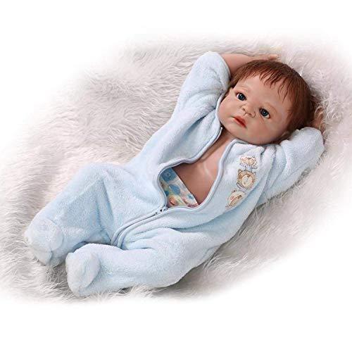 H.aetn 23 Pulgadas Blue Kitty Rare Alive Silicona Vinilo de Cuerpo Completo Reborn Baby Dolls...