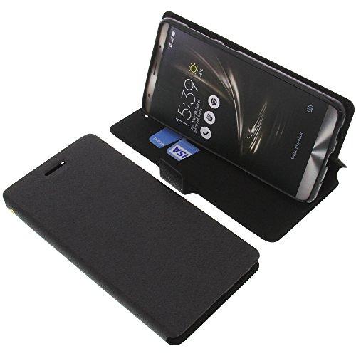 foto-kontor Tasche für Asus ZenFone 3 Deluxe ZS570KL Book Style schwarz Schutz Hülle Buch