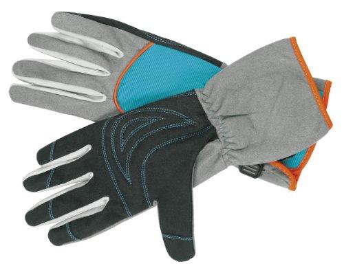 GARDENA Strauchpflegehandschuh: Gartenhandschuhe für Arbeiten mit dornigen Sträuchern/Pflanzen, Größe 9/L, optimaler Tragekomfort, lange...