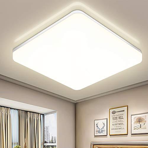 Oraymin 36W LED Deckenlampe, LED Deckenleuchte IP54 Wasserfest, 3600LM 4000K Neutralweiß Licht, Quadratische Leuchte Ideal für Badezimmer Schlafzimmer Küche Wohnzimmer Korridor Balkon