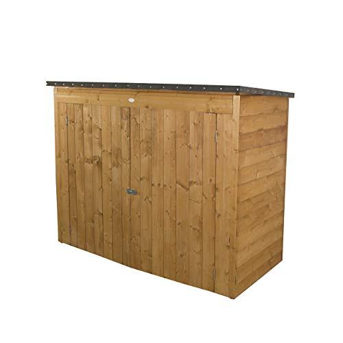Forest Large Double Door Pent Wooden Garden Storage - Bike/Mower Store (No Floor) instead of Forest Storage, Golden Brown.