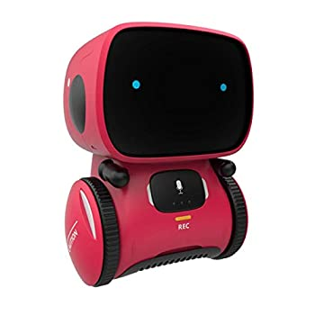 98K Kids Robot Toy Smart Talking Robots Gift for Boys and Girls Age 3+ Intelligent Partner and Teacher with Voice Controlled and Touch Sensor Singing Dancing Repeating