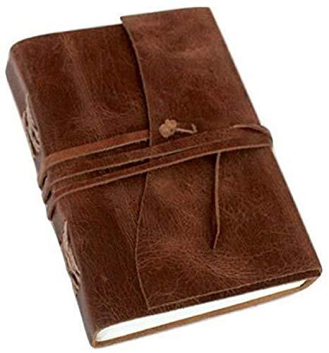 ALBORZ Handgefertigtes geprägtes Lebensbaum-Leder-Journal, Tagebuch für Männer und Frauen, Ledergebundenes Notizbuch, bestes Geschenk für Kunst-Skizzenbuch, Größe 17,8 x 12,7 cm