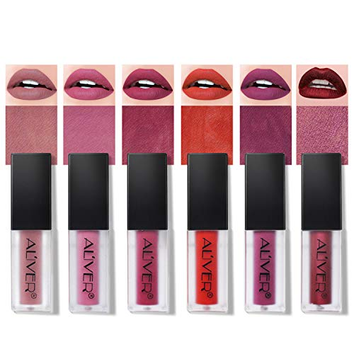 Rossetti 6 Pcs Matte Rossetto Lunga Durata Impermeabile Liquid Lipstick Make Up Revolution...