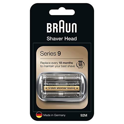Braun Series 9 92M Cabezal de Recambio Plata para Afeitadora Eléctrica Hombre, Compatible con las Afeitadoras Series 9