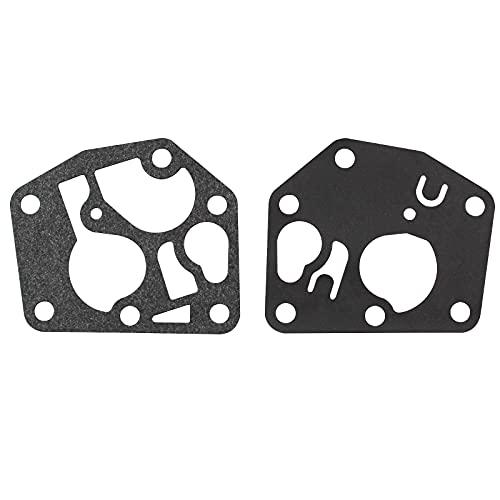 suaywo Juego de Juntas de Diafragma de Carburador Membranas y Juntas Kit Carburador, para Piezas de Carburador Cortacésped Briggs & Stratton