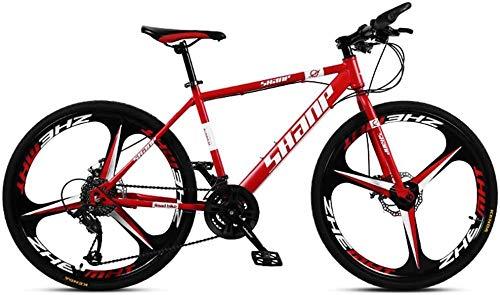 QJWY-Home 26 Zoll Fahrrad Herren Doppelscheibenbremse Hardtail Fahrrad Fahrrad Verstellbarer Sitz Rahmen aus kohlenstoffhaltigem Stahl - Blue 3 Spoke 27 Speed