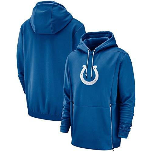 NFL Trikot Colts Hoodies, Neue Casual American Football Jersey, Sweatshirt Langarm-3D-Logo Digitaldruck (Color : Purple, Size : XL)