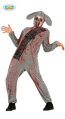 überfahrener Zombie Hase Kostüm für Erwachsene Gr. M/L, Größe:L