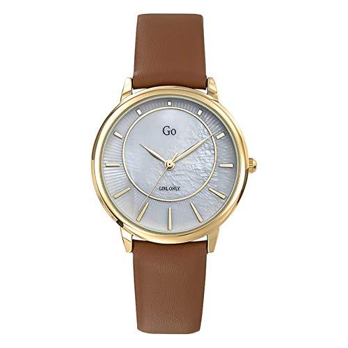 Girl Only - Reloj de pulsera analógico para mujer, color marrón, con correa de piel, UGO699324