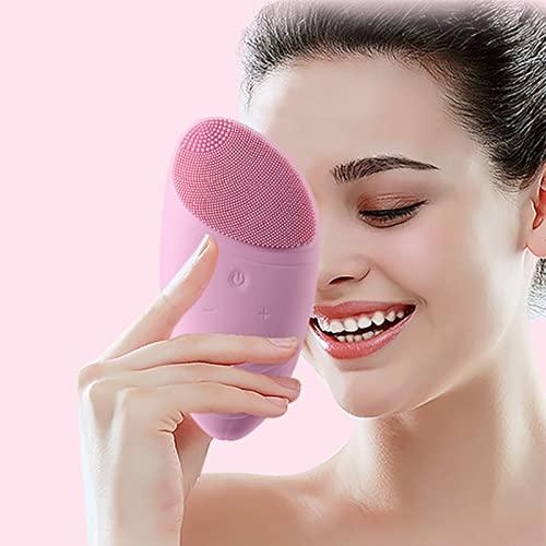 YYL Portátil Cepillo de Limpieza Facial Eléctrico, Microdermoabrasión Avanzada Cepillo de Masaje, Exfoliante Profundo Eliminación de Maquillaje para el Cuidado de la Piel (Color : Pink)