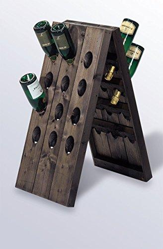 Pupitre da banco per 24 bottiglie. Cantinetta vino portabottiglie.