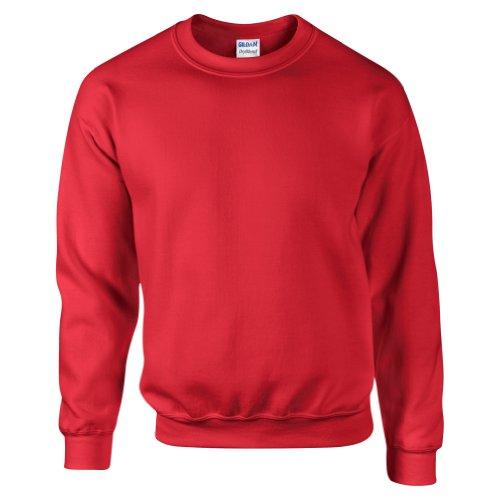 Gildan DryBlend Sweatshirt/Pullover mit Rundhalsausschnitt (XL) (Rot)