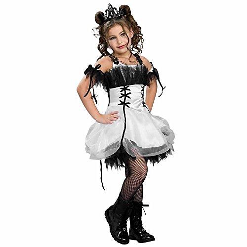 Drama Queens Gothic Ballerina Costume, white, Medium