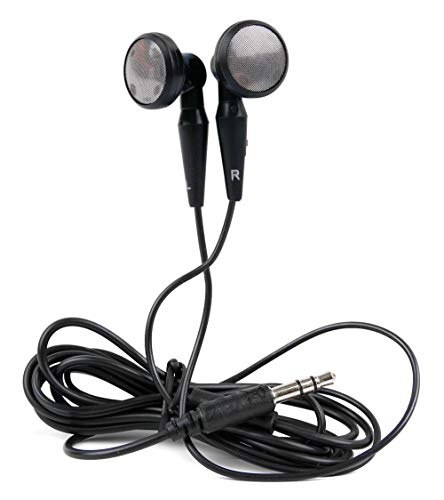 DURAGADGET Auricolari Stereo in-Ear per Clementoni ClemPhone 7.0 16601 | Il Mio Primo Clempad 7' 16602 | Clempad 8' 16603 | Il Mio Primo Clempad 7' Plus 16604 | Clempad 8' Plus - 16605 – Colore Nero