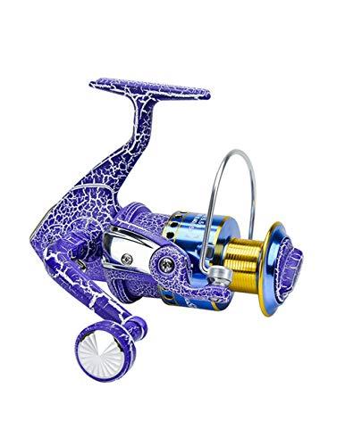 LLJPYX7L Angelrolle lila mit 10 +1 Kugellagern Leichte, superglatte Angelrolle mit einem Übersetzungsverhältnis von 5,5: 1, geeignet for das Salzwasserfischen (Color : 1000)
