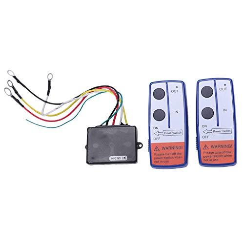 Adanse Control Remoto de cabrestante de Torno de recuperacion inalambrica de Doble Auricular ATV de Coche de 24V 24 voltios