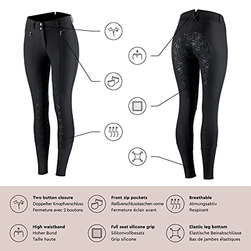 Product Image 2: HORZE Women's Angelina Full Seat Breeches – Silicone Grip