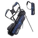 LONGCHAO Golf Bag for Men- Black White Stand Golf Bag Lightweight 4 Way Top - Detachable Cute Backpacks Removable Rain Hood,Hybrid Walking Golf Bag with Stand(Blue)