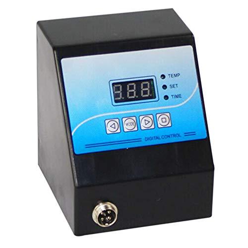 Exanko Caja de Control Digital Prensa de Calor Controlador de Temperatura Digital para Taza/Plato/Foto de Piedra/Camiseta Negro