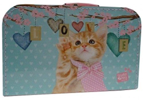 martoli Kinderkoffer rosa Katze Studio Pets 35 cm