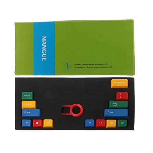 L-yxing Obra de Arte 14 Winder ABS RGBY OEM Perfil KeyCaps para Cerise Mechanical Keyboard KeyCap Llaves de Alta Durabilidad (Color : B)