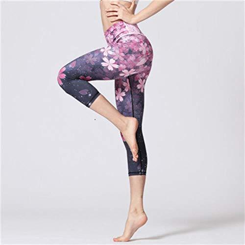 HPPLSport Yogabroek Bloemenprint Gym Leggings Sport Dames Fitness Yogalegging Sport Femme Hoge taille Workout Sport Panty Dames, Rood-2 Yogabroek, S