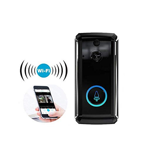 L&WB Video Deurbel Waterdichte Wifi Deurbel met Camera, Smart 720P HD Draadloze Deurbel, Twee-weg Talk, PIR Motion Detection, IR Night Vision, ToSee App Control Ondersteuning IOS en Android,
