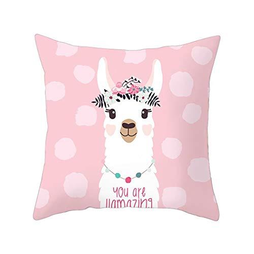 Find Discount Corgy Cartoon Alpaca Pillowcase Square Sofa Car Office Cushion Cover Home Decor Pillow...